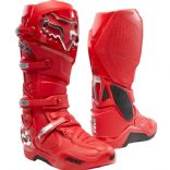 2021 Fox Instinct Motocross Boots RED SILVER
